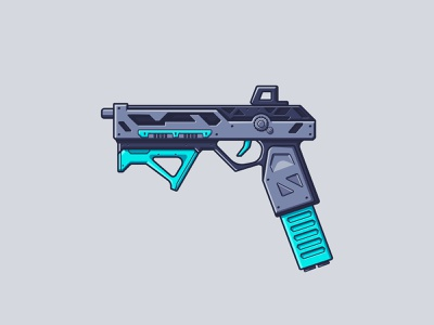 Apex Legends - RE-45 re-45 line illustration illustration battle royale video game pistol gun weapon apex legends