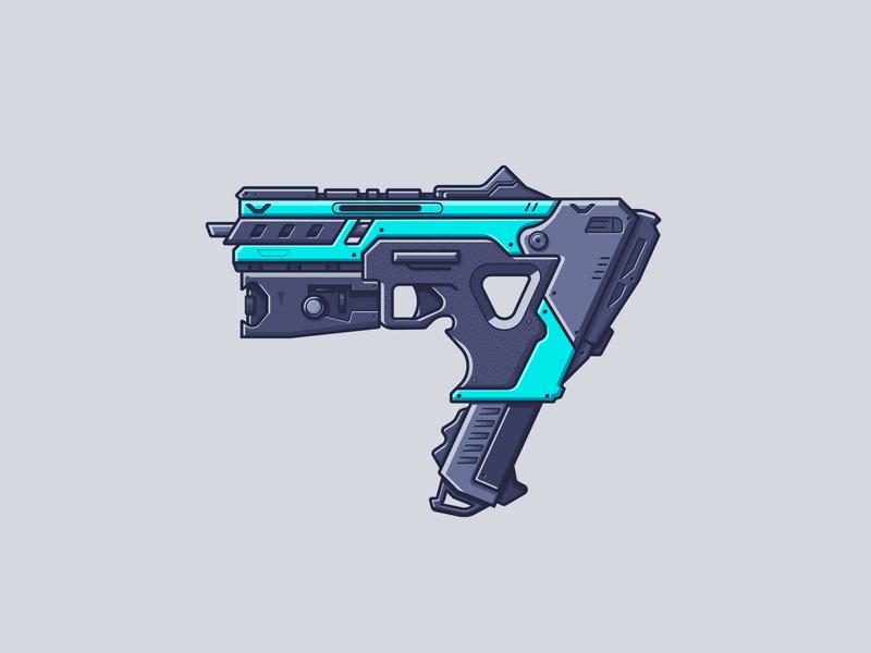 Apex Legends - Alternator illustration battle royale video game gun weapon smg alternator apex legends