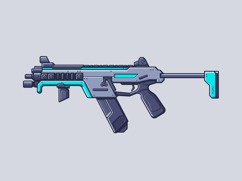Apex Legends R-99 line illustration illustration smg gun weapon r-99 r99 battle royale video games apex legends