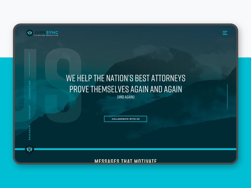JurySync Website attorney jury law web product design website jurysync litigation