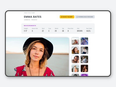 Hoffman Bio gallery photo gallery product design web design website web talent agency modeling model bio bio page