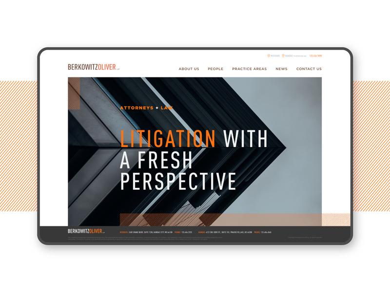 Berkowitz Oliver Homepage homepage litigation ui uiux product design web design website