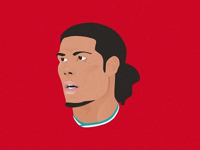 Virgil van Dijk Illustration vandijk liverpoolfc liverpool soccer football illustration