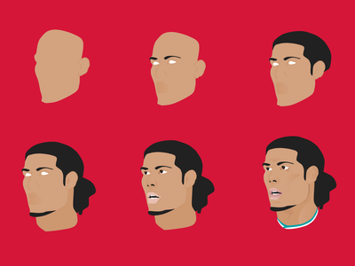 Virgil van Dijk Process lfc vandijk soccer liverpoolfc liverpool illustration football