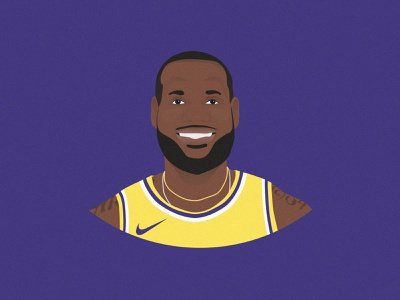 LeBron James Illustration sports purple vector illustration theking kingjames nba basketball losangeleslakers lalakers losangeles lakers la lebronjames lebron