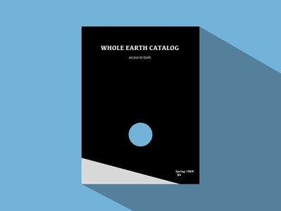 Whole Earth Catalog sketchapp flat illustration