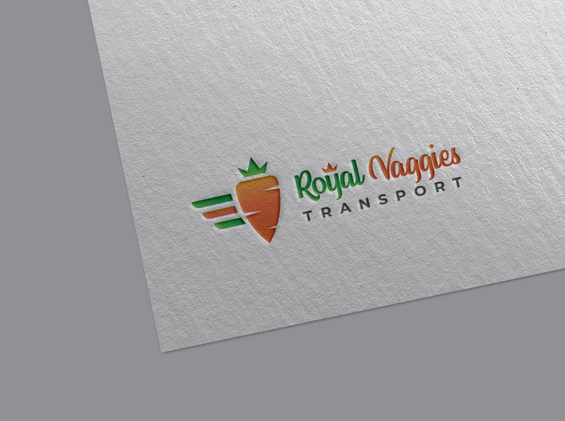 Logo - Royal Vaggies Transport mockup psd stationary design stationery design logo mockup modern logo clean logo fresh logo food logo logo designer logodesign logos logo
