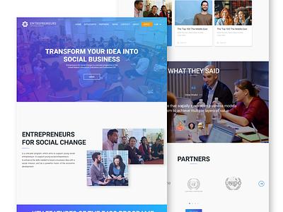 Entrepreneurs  For Social Change Redesign website redesign entrepreneurs