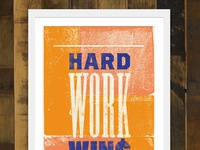 Hard work wins orange