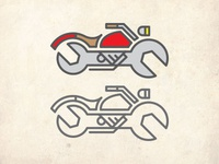 Motorcycle Mechanic Logo Color Study