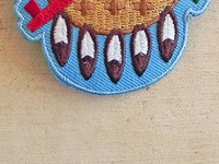 Osage Shield Patch Traditional by Clint Walkingstick