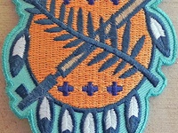 Osage Shield Patch Thunder by Clint Walkingstick