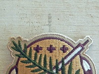 Osage Shield Patch Woodland by Clint Walkingstick