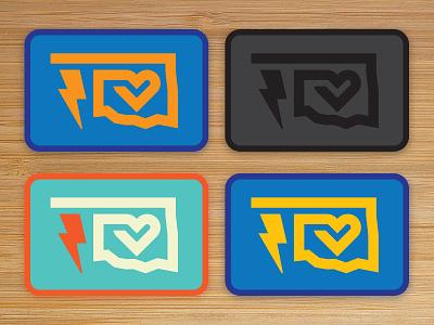 Oklahoma Patch Colors okie oklahoma monowidth minimal mark logo patch thicklines