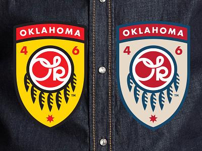 Oklahoma Patch okie oklahoma monowidth minimal mark logo patch thicklines