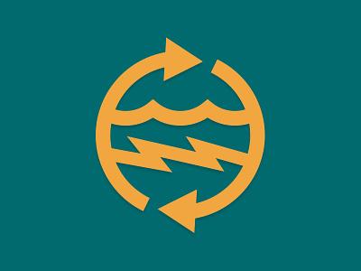 Hydroenergy okie oklahoma monowidth minimal mark logo patch thicklines