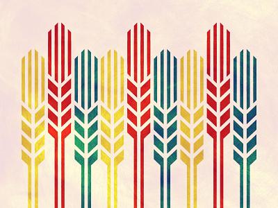 Mod Wheat  wheat okie oklahoma monowidth minimal mark logo thicklines