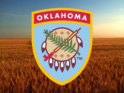 Osage Shield Patch okie oklahoma monowidth minimal mark logo patch thicklines