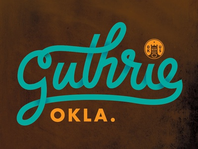 Guthrie Oklahoma okie oklahoma monowidth minimal mark logo typography type thicklines