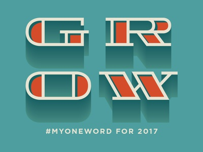 2017 Grow monowidth typography type thicklines