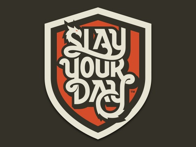 Slay Your Day monowidth minimal mark logo typography type thicklines