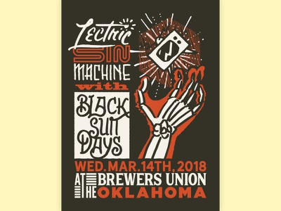 Lectric Sin Machine + Black Suit Days poster