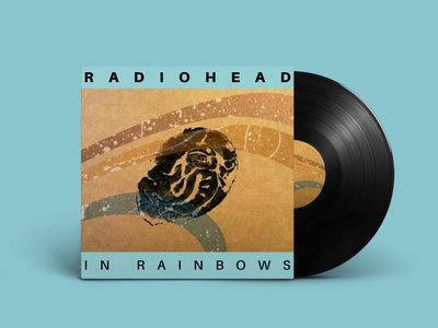 Radiohead Vinyl Packaging record sleeve record label music graphic design in rainbows young god records vinyl radiohead