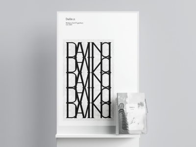 DaVinci Typeface typography typeface type design serif poster photography davinci brochure black and white architecture