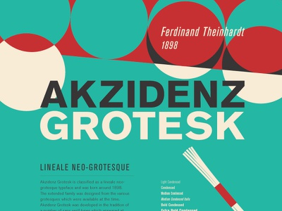 Typography poster series / Akzidenz Grotesk anatomy typography retro graphic design poster illustration font typeface