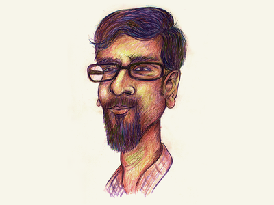 Weekend Drawing: Self caricature caricature drawing profile avatar joby pencil drawing