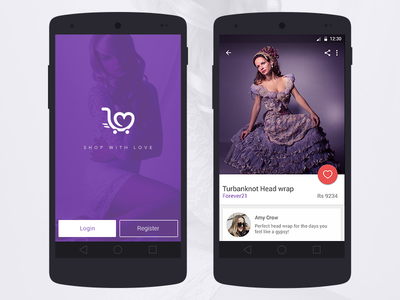 Android UI for a fashion App cart fashion branding shopping cart ux design ui design fashion app android app