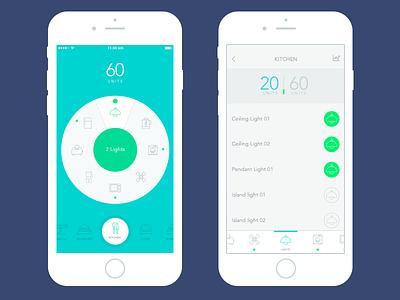 Homekit iOS app (WIP) kitchen icon home icons ux ui home automation ios app flat ui homekit