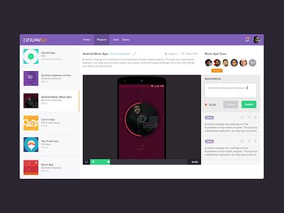 Dashboard layout web ui video ux ui dashboard