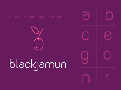 Blackjamun Typeface (WIP) illustration vector font typeface creation font creation purple blackjamun text font typeface