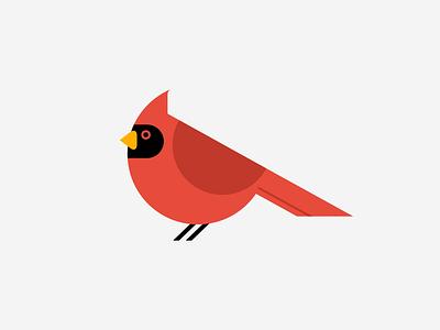 Cardinal Bird black red illustration cardinal bird icon bird cardinal
