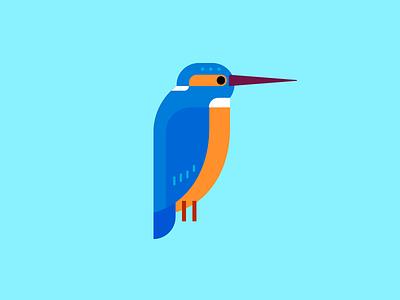 Kingfisher minimal illustration geometric illustration bird kingfisher
