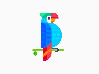 Parrot multi colour parrot illustration bird icon icon green bird parrot
