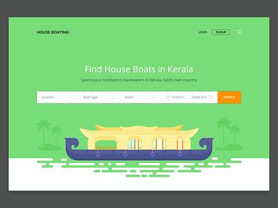 Houseboat booking website (WIP) website design house boat houseboat kerala
