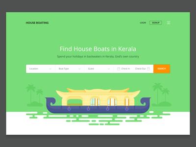 Houseboat booking website (WIP)