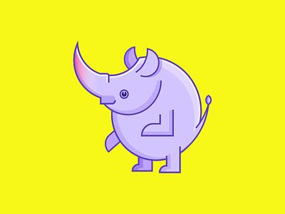 Mr.Rhino(WIP) mascot mammal logo illustration branding animal rhino geometric
