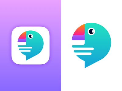 Parrot+Chat App Icon chat app chat icon app icon parrot