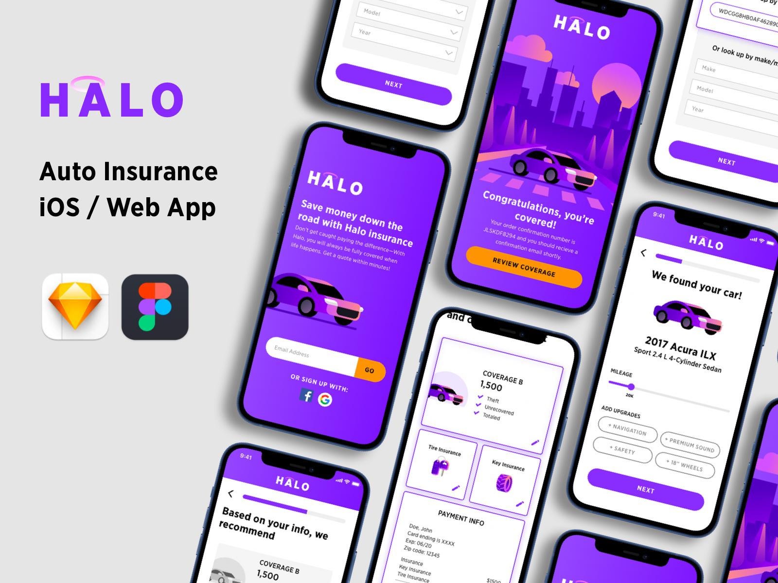 HALO - Auto Insurance App Kit