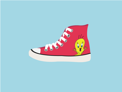 Shoes tweety bird shoes chucks all stars converse