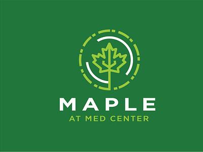 Maple at Med Center sans serif maple flat design logo design logo