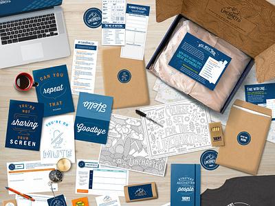TiER1 Company Meeting Exploration Kit branding illustrator packaging