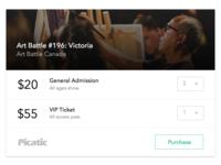 Ticket Checkout Widget