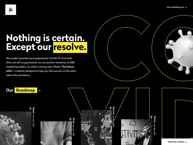 The Future After Webinar webinar type agency web design ux typography website