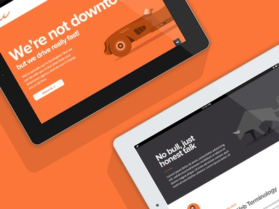 Thrillworks site mock up website redesign folio agency portfolio orange