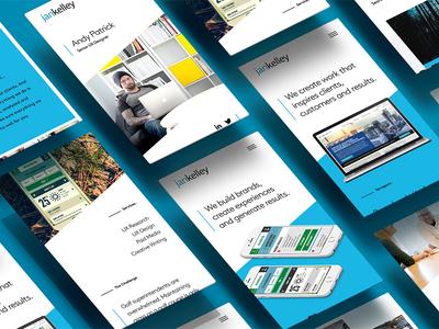 Agency Redesign ux portfolio agency mobile website
