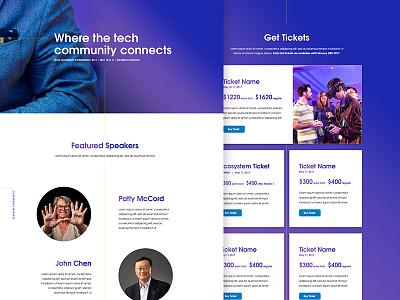 Tech Conference website ux tech conference design website